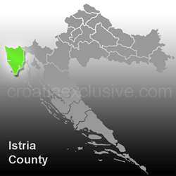 Map of Istria County (Istarska Zupanija)